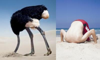 ראש בחול